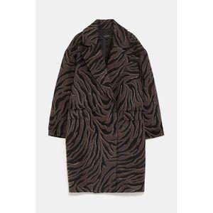 Animal Print Pea Coat